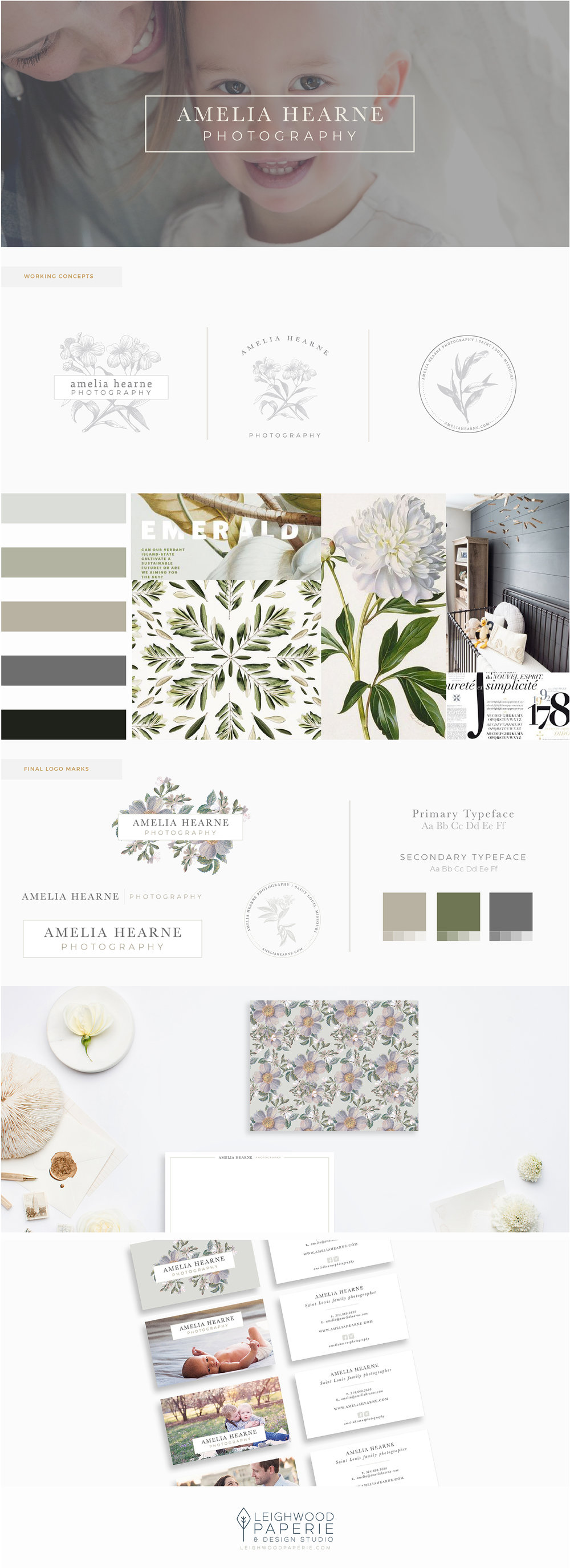 Leighwood Paperie | Branding Porfolio | Amelia Hearne Photography