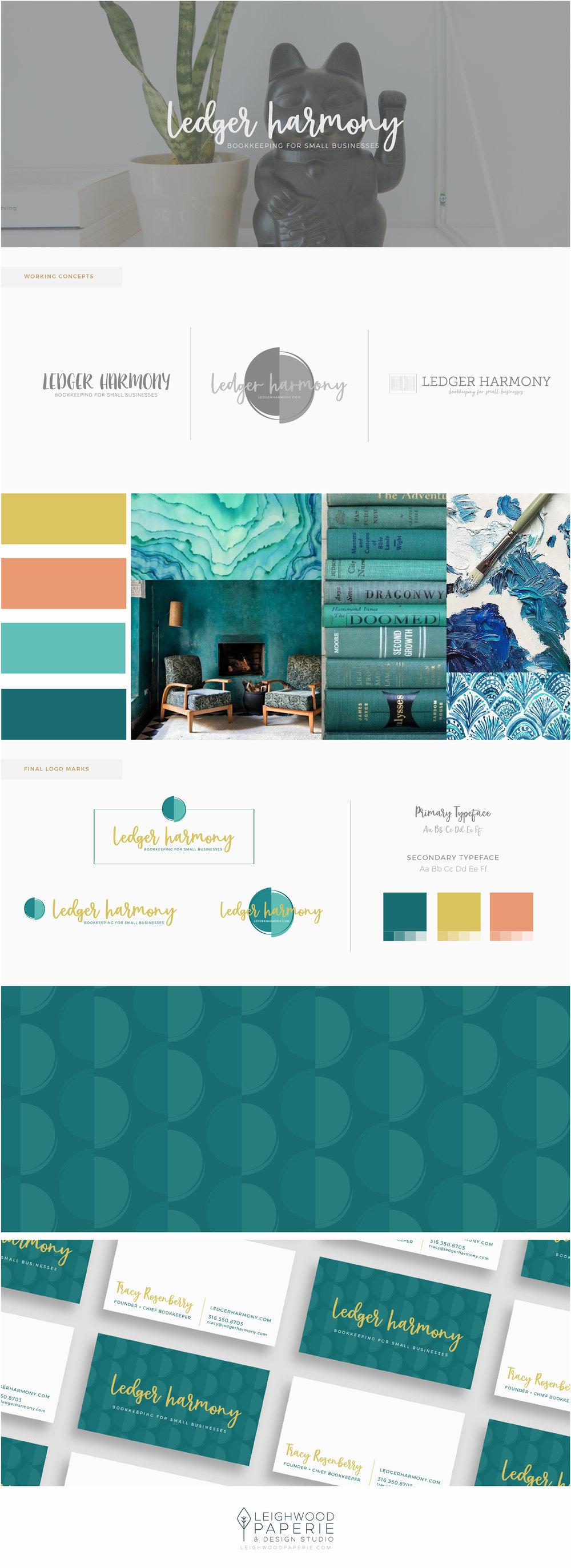 Leighwood Paperie | Branding Portfolio | Ledger Harmony