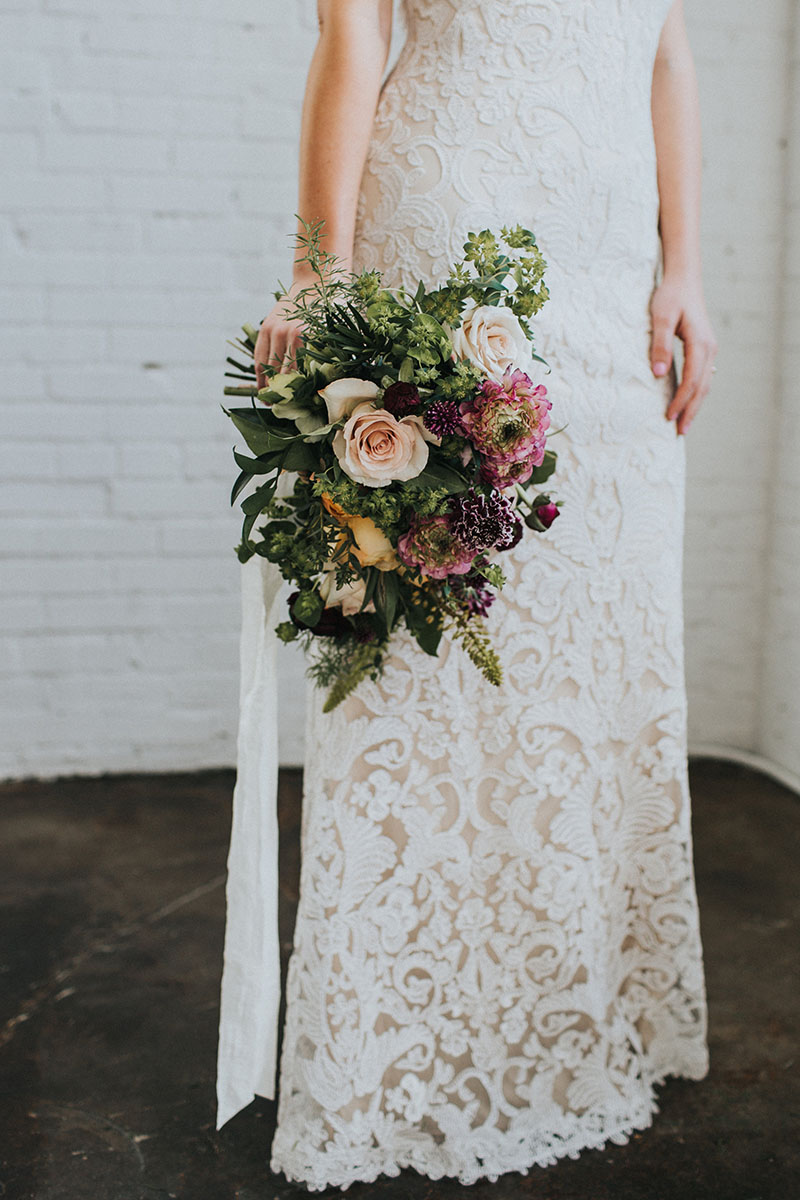 Ruffled Blog - Modern Romantic Loft Wedding Inspiration