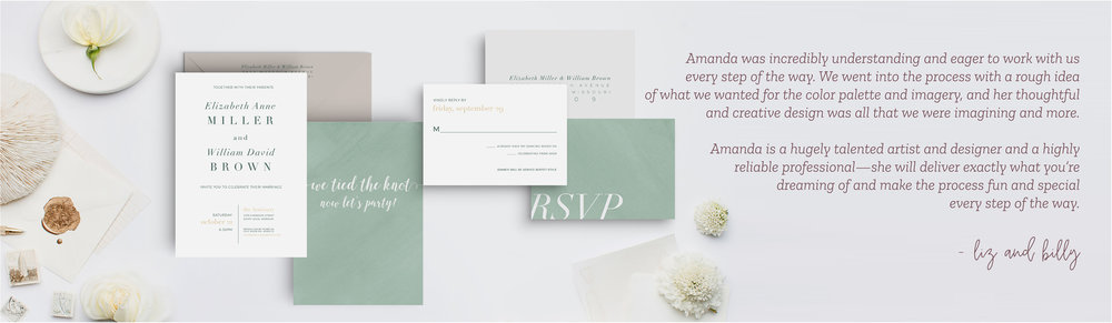 Leighwood Design Studio | Custom Wedding Invitation Design in St. Louis, Missouri
