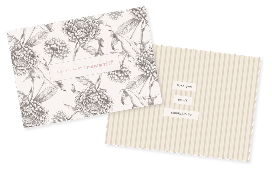 Leighwood Design Studio | Printable Wedding Party Ask Cards