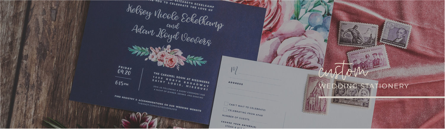 Leighwood design studio custom wedding invitation design in st web stopboris Image collections