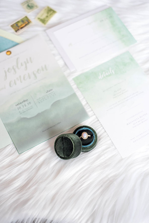 Chic and contemporary styled shoot at Slate Events in Downtown St. Louis | Invitation Design by Leighwood Design Studio
