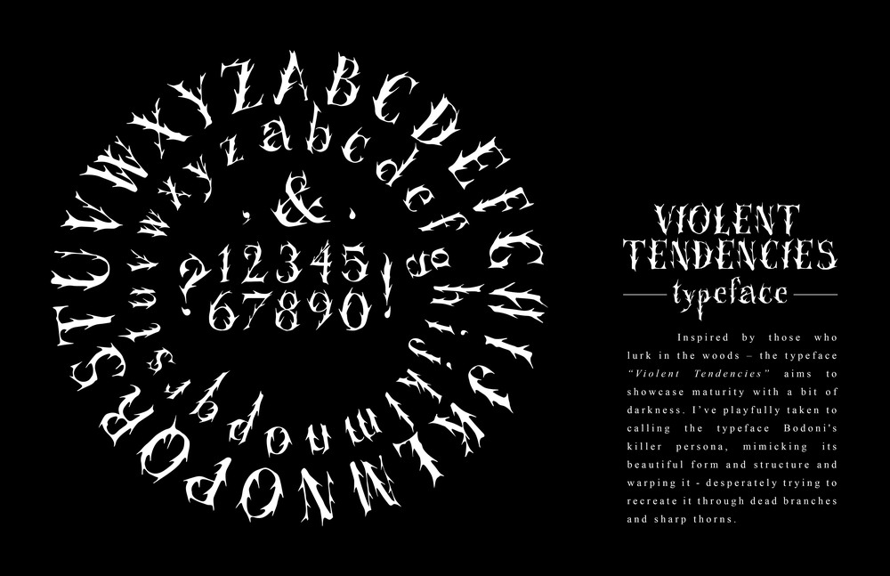 VIOLENT TENDENCIES TYPEFACE