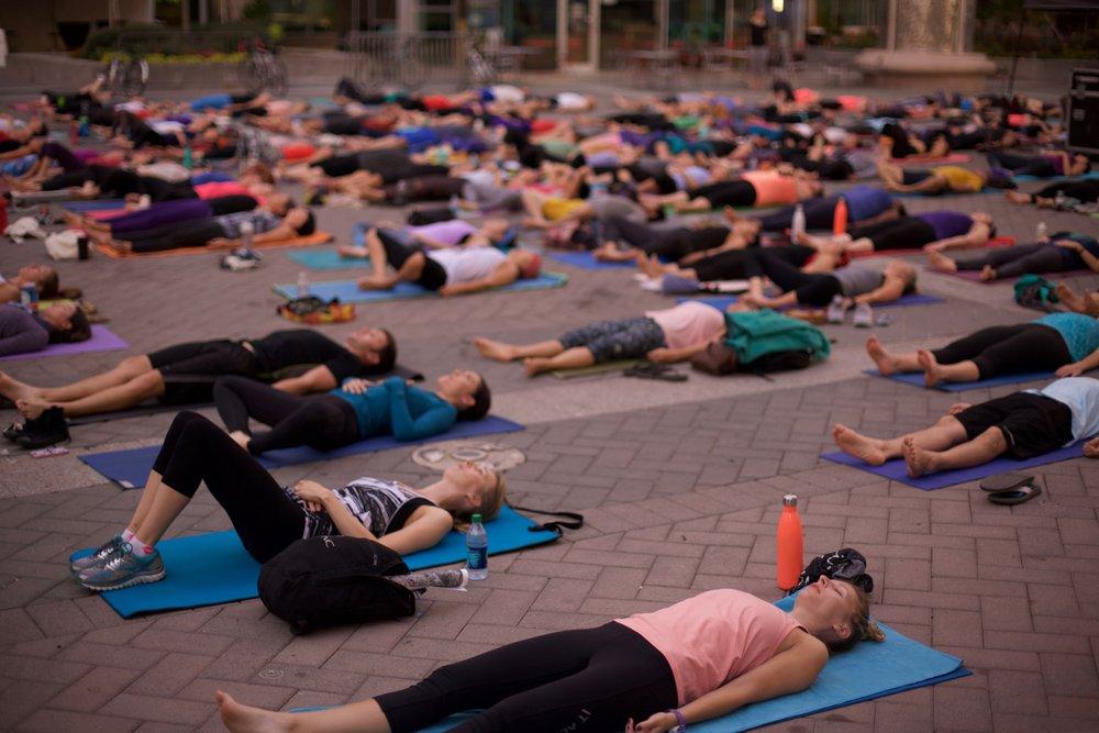 Sunrise Yoga Hopscotch Music Festival Happy Hale Healthy