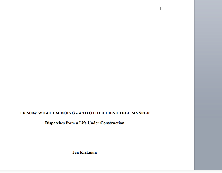 That's right! It's a screen grab of MY SECOND BOOK and what it looks like on the computer all WRITTEN and stuff! Except for a few edits here and there/their/they're (haha fun spelling joke) Anyway it will be out in 2016 and YOU KNOW I WILL BE BOTHERING YOU THIS SUMMER TO PRE-ORDER IT. So get in your pre-pre-order mindset. xoxo jen