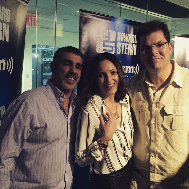 "Hey! Just did the Howard Stern Wrap Up show with Gary Dell'Abate and Jon Hein. It was so fun I am coming back to do it live in studio tomorrow!! Thursday Feb 25th. Same time. Tune in 11 am Howard 100. Today was definitely a ""noine"""