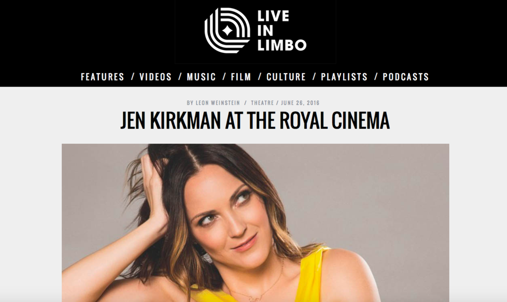 "Have you ever wanted a guide to help you organise your life? To find peace, meaning and perhaps the love of your life? Then Jen Kirkman would be the first to tell you to stay the fuck away. At The Royal, promoting her new book I Know What I'm Doing – and Other Lies I Tell Myself, Kirkman gave advice as best she could: through the lens of a cautionary tale. Though none of the six stories told appear in her book, they weaved together to create a compelling blend of hilarity and honesty. In her hands, there was little difference. From her fear mongering parents preaching Armageddon, to the struggle of losing her virginity, Kirkman's tales showed an ever-present tension between seeking connection and her disconnect with the world around her. It would've been heartbreaking if she wasn't so goddamn clever. Ribald and self-deprecating, her bullheaded earnestness found her crashing through ridiculous scenarios one after another miraculously unscathed. Whether it was her disappointment at her boyfriend surviving 9/11 (it made breaking up so much harder. For the next two days at least), or inventing a deceased mother to win an argument in traffic, her candid confessions were as sugar coated as a rock. The crowd was hers from the moment she took the stage. Her larger-than-life character was only amplified by judicious use of physical comedy. Ever seen a grown-ass woman perfectly recreate her eight year old choreography for The Beach Boys' ""California Girls""? It's damn delightful. The stories served as a canvas for her obvious talent as a stand-up. Drawing thematic connections through perfectly executed callbacks, these disparate memories interlaced to create a larger narrative of a life spent avoiding lessons. Hell, if she writes half as well as she speaks, I Know What I'm Doing is gonna be tough to put down. - Leon Weinstein /Theatre/June 2016"