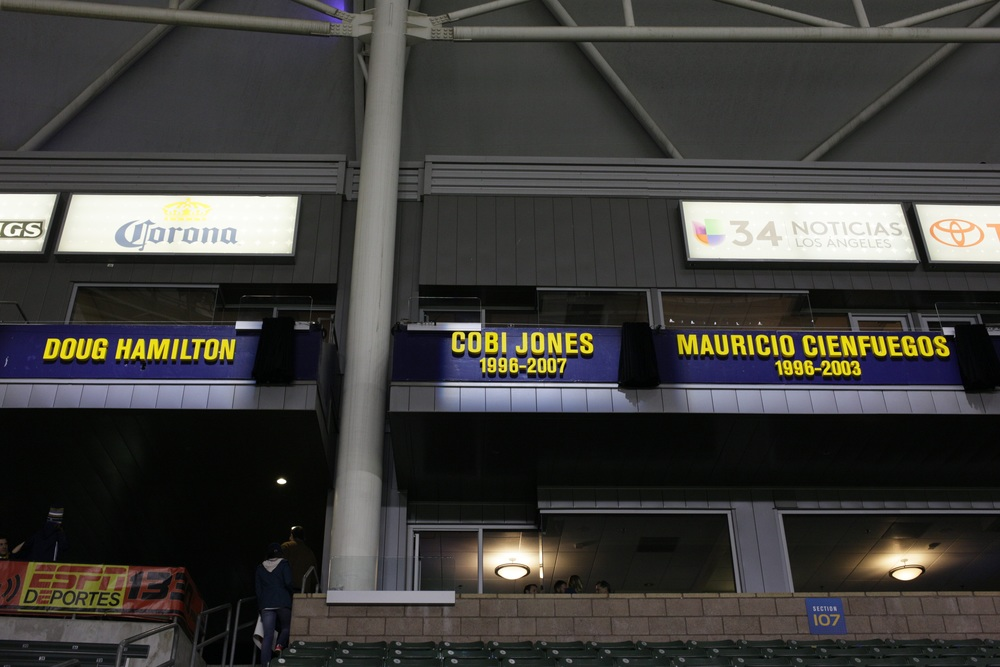 LA Galaxy honor club legends Cobi Jones, Mauricio Cienfuegos and Doug Hamilton as the inaugural Ring of Honor class.