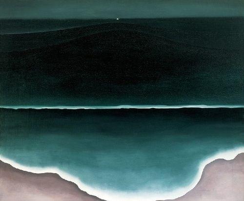 Georgia O'keeffe,  Wave, Night  1928, Oil on Canvas