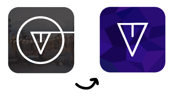 (L) The first RDV app icon, (R) the final RDV app icon you'll find in the Apple Store next week.
