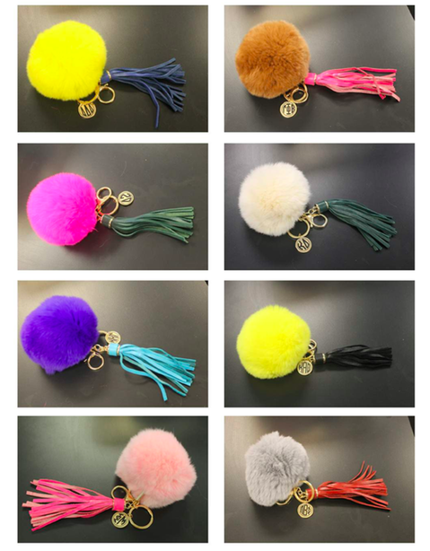 Sorority Pom Pom Key Chains $18