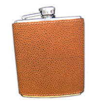 Orange Scotch Grain Flask $25