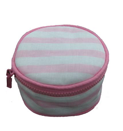 Pink Stripes Jewlery Round $34