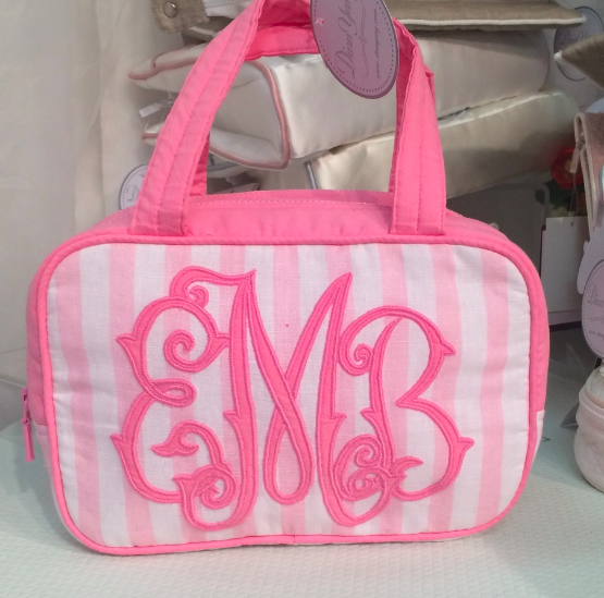 Pink Stripes Double Travel Bag $54