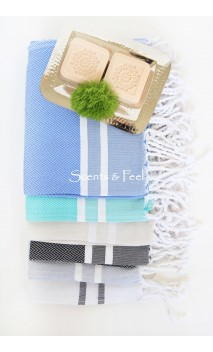 Guest Towel Herringbone Stripes $18.50  (Available in multiple colors)