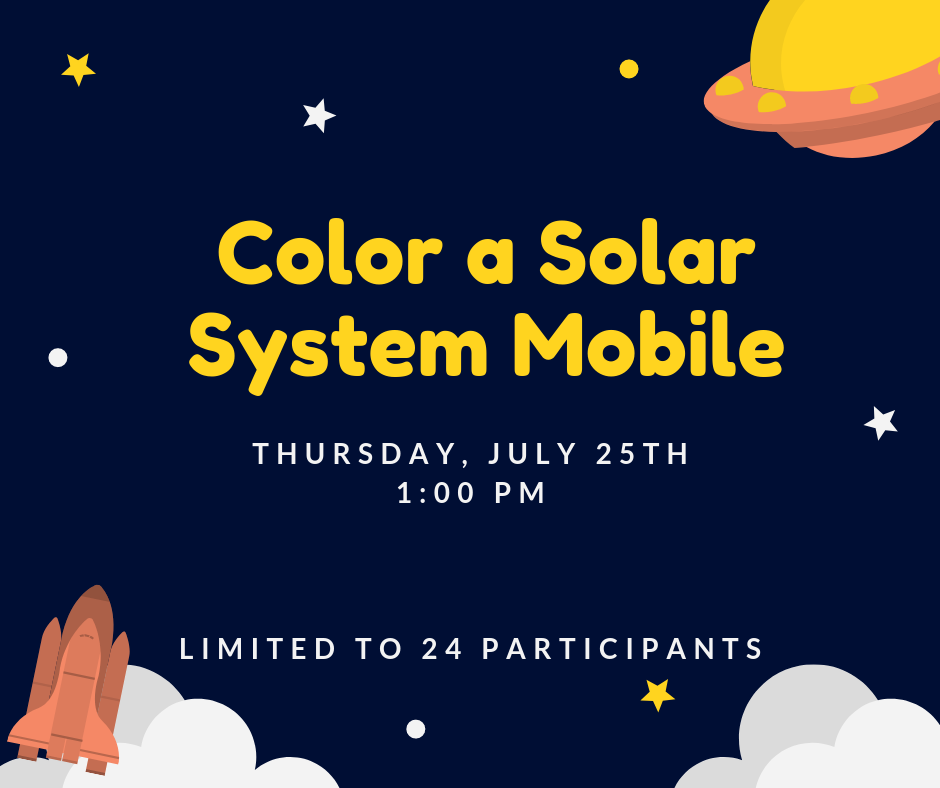 Color a Solar System Mobile — Community Free Library