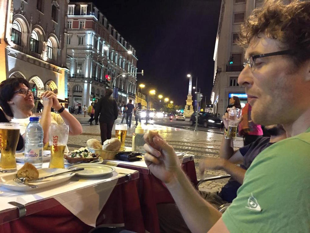 @paddycosgrave having coxinha in Lisbon with some of us.