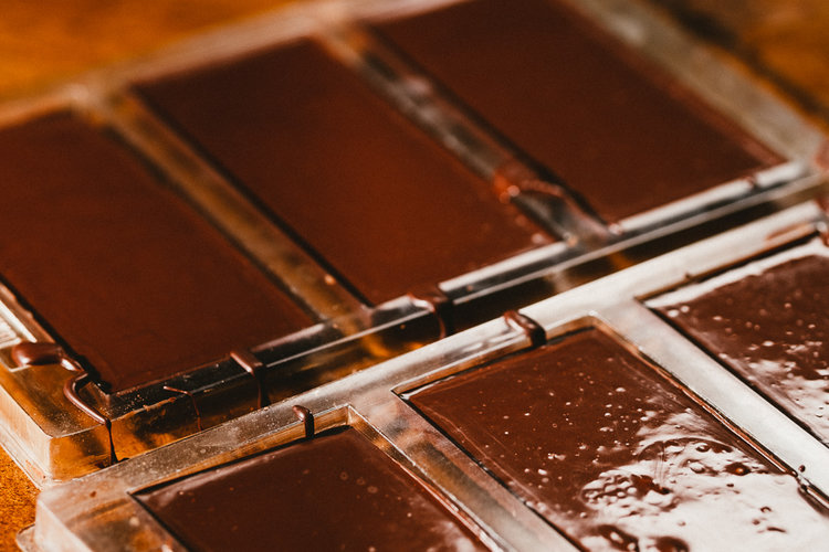 chocoalte in molds
