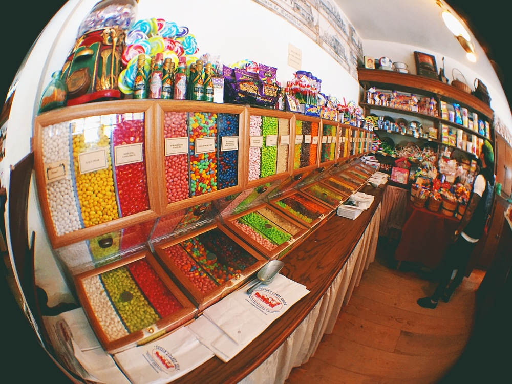 If you take a grown man into a candy store...