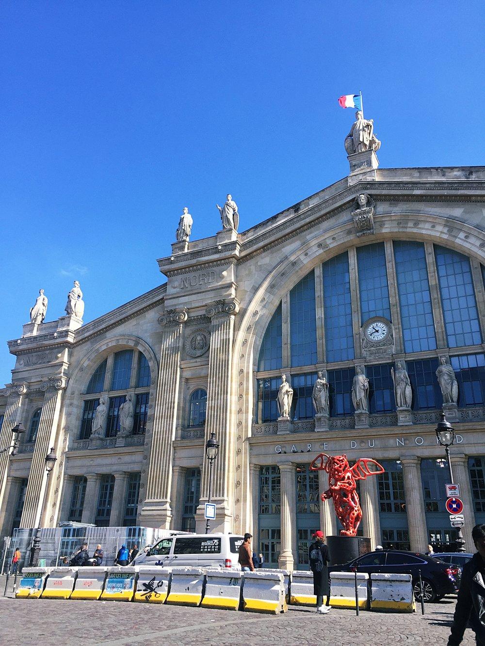 The Parisian station, Gare du Nord.
