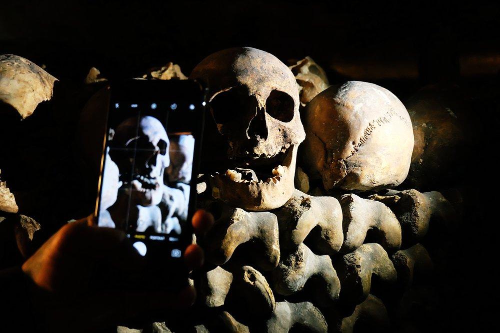Some of the skulls still had teeth intact!