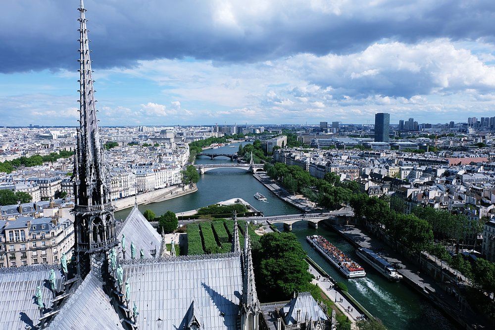 We could not have expected such a tremendous view above the Notre Dame.