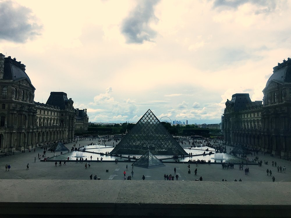 It was such a gorgeous day to visit the Louvre.