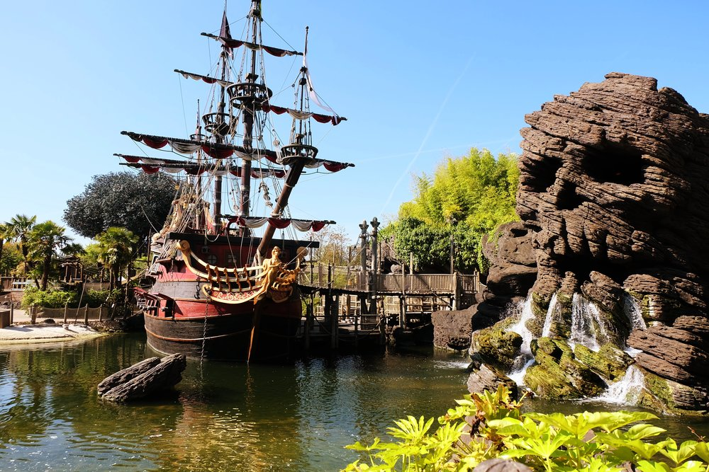 Skull Rock + a pirate ship!