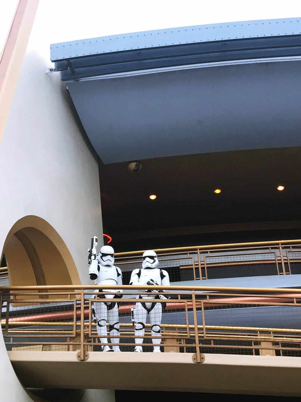 Stormtroopers watching over the walkers in Tomorrowland!