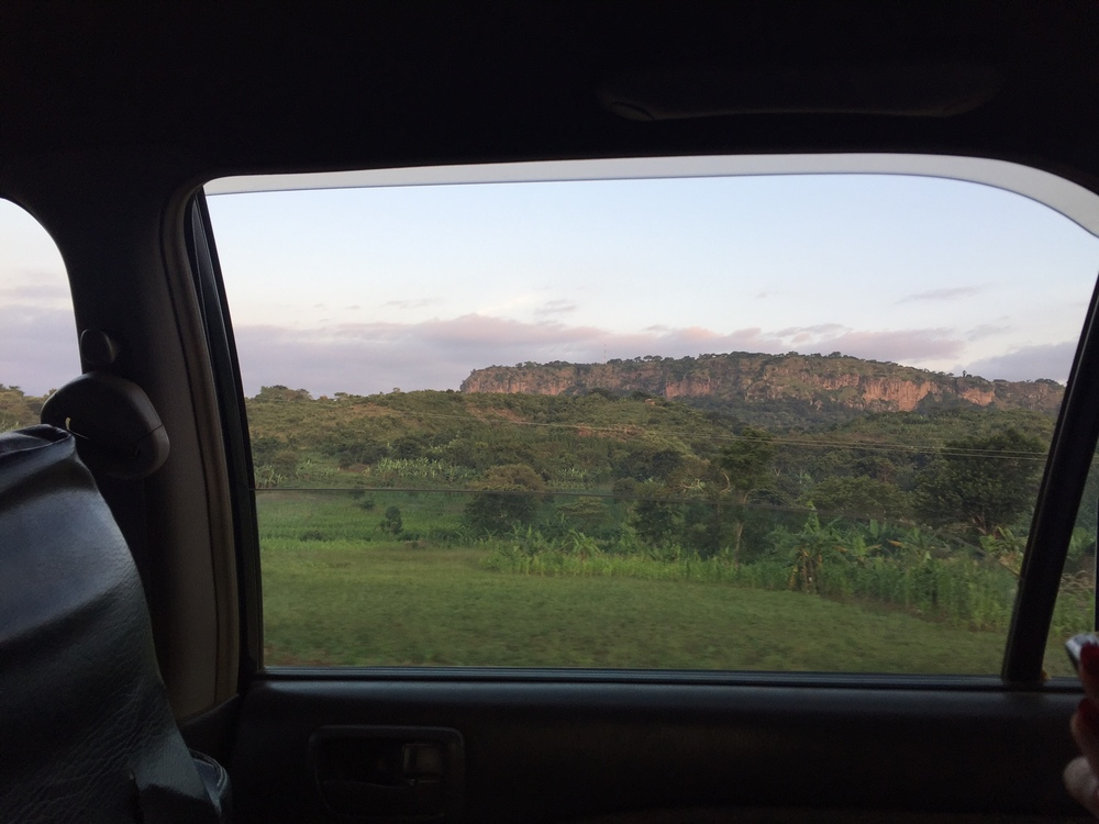 Driving from Mbale to Sipi.