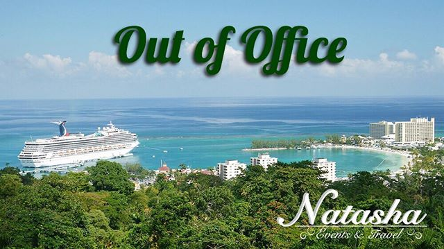 Good'ay folks! Please note we are taking a much needed break, and response times will be slower than normal. Thank you for understanding! #takingabreak #vacation #travel #outofoffice #cruiselife #famjam #natashaeventsandtravel