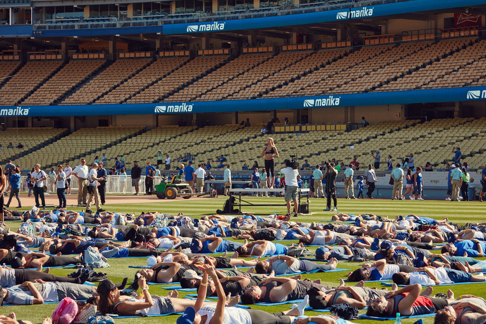 Yoga Day At Dodger Stadium