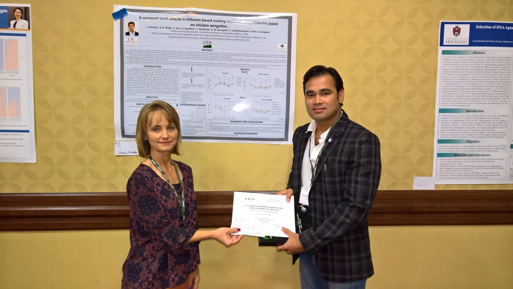 Sandip Shrestha - Mississippi State University1st place Food Safety including Fundamental Understanding of Pathogens