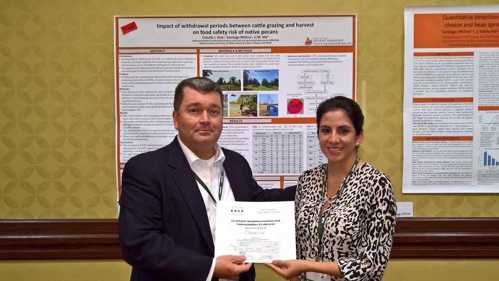 Claudia Diaz - Oklahoma State University2nd place Food Safety including Fundamental Understanding of Pathogens