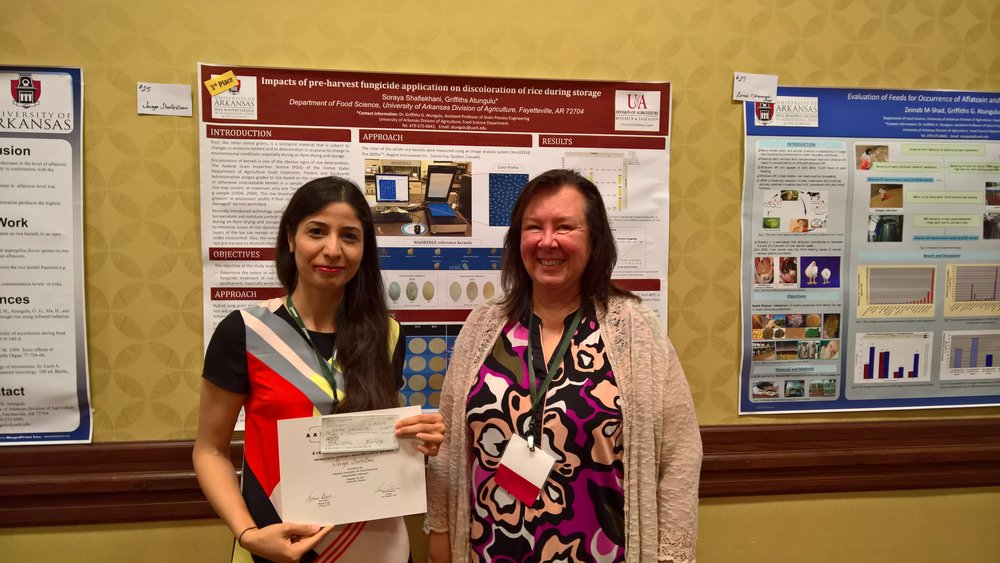 Soraya Shafiekani - University of Arkansas3rd place Pet Food and Animal Feed Safety