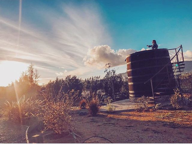 Valle views from our signature barrels🍇 #fincaaltozano #valledeguadalupe #travel #winecountry #baja #mexico 📸 @mom2fit_