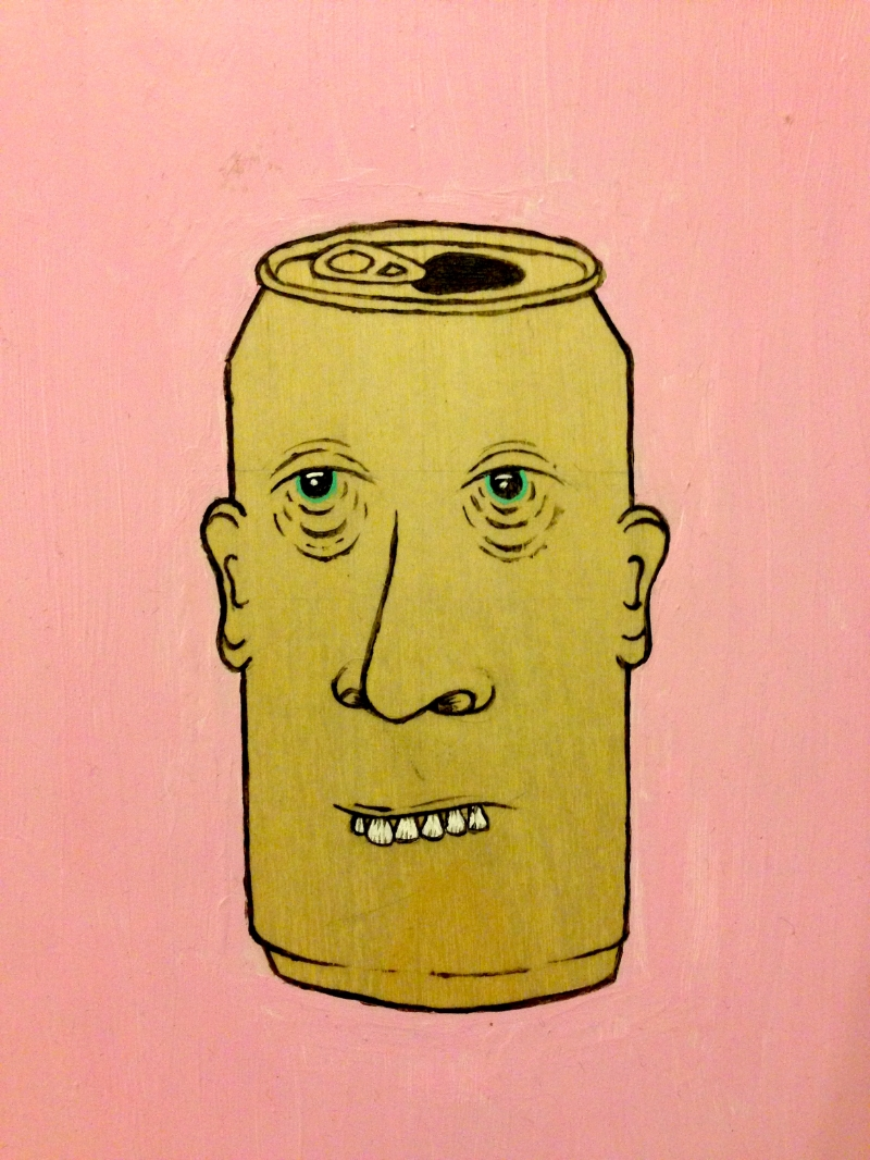 "Acrylic on ply  5"" x 4"""