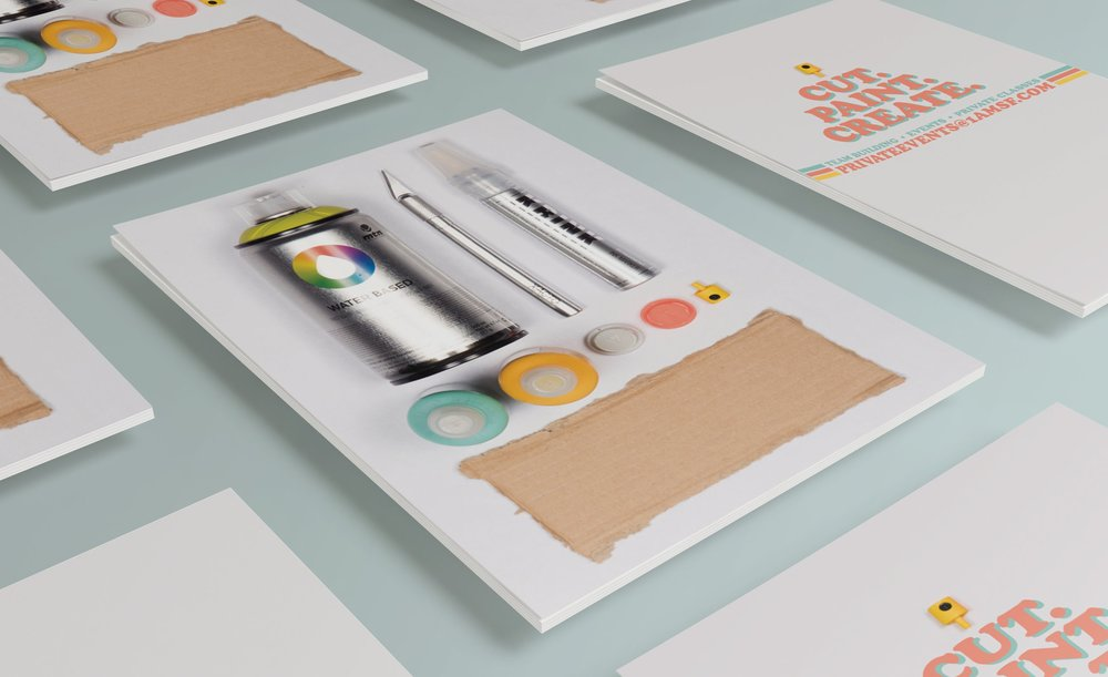 Digital and print promotion created for 1AM SF's interactive workshops