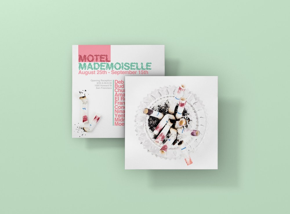 "Digital and print promotion created for 1AM SF's all-female show entitled ""Motel Mademoiselle"""