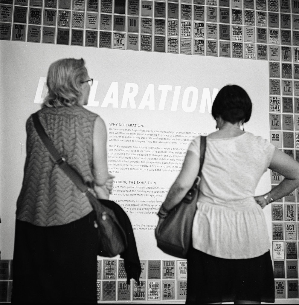 Declaration | Institute for Contemporary Art | Richmond, Virginia