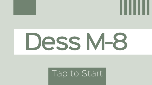 The Current Opening Screen in the Dess M-8 Alpha Build.