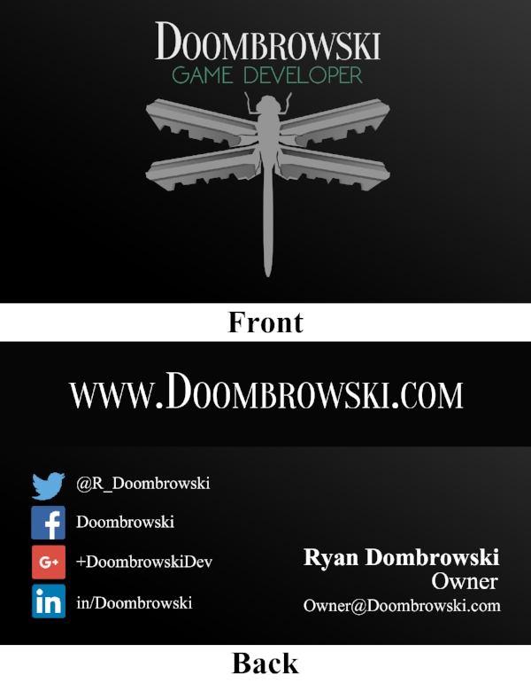 Doombrowski Business Card