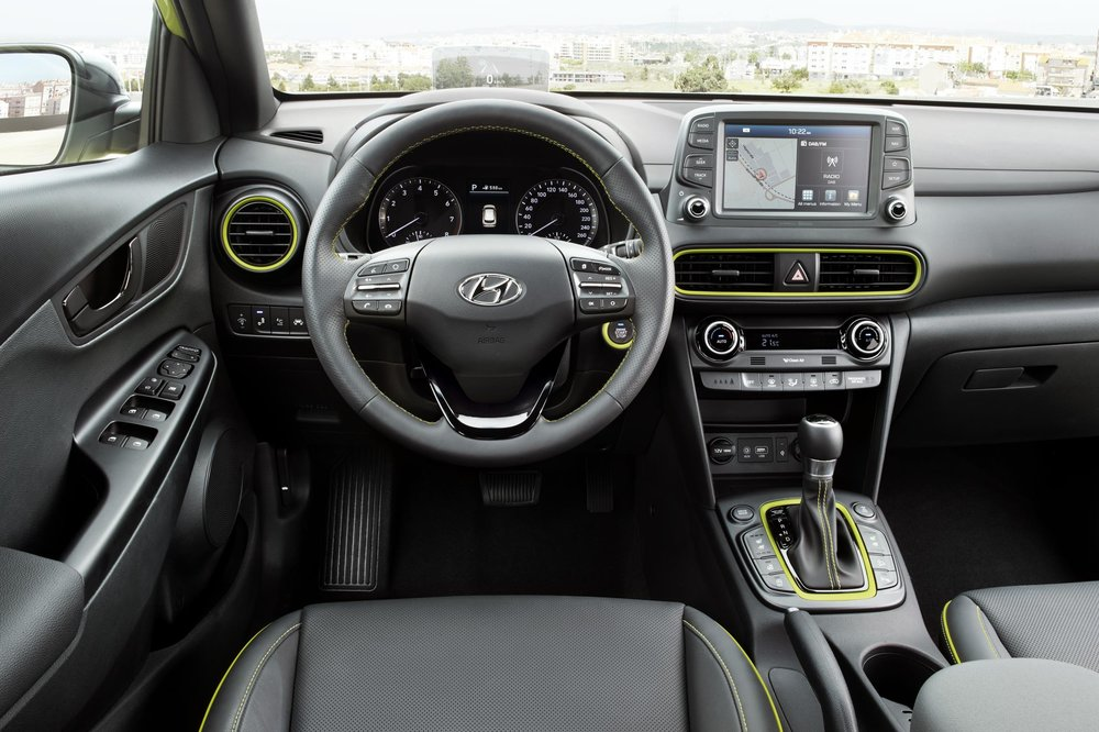 Interior trim accents match the color of the exterior