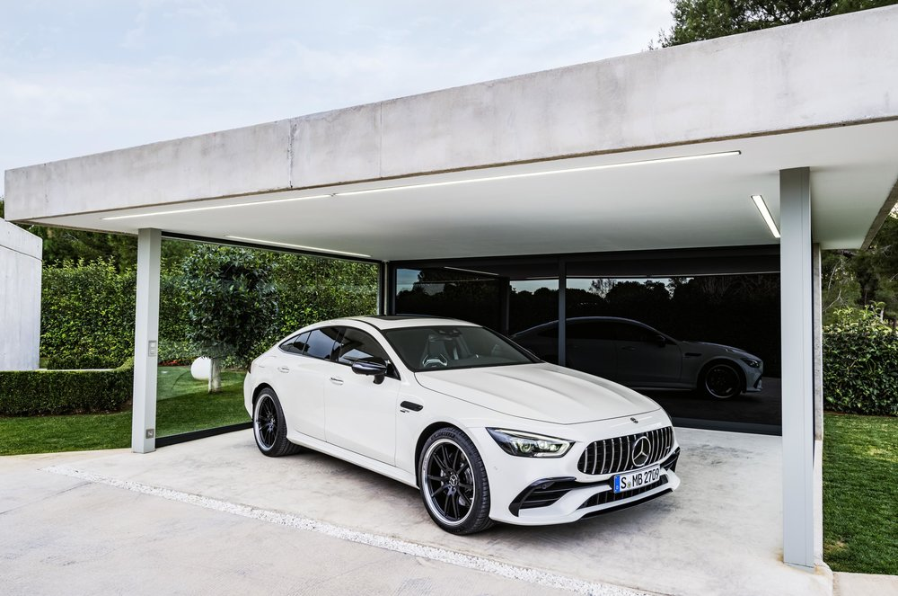 Pictured: 2019 Mercedes-AMG GT53 in white