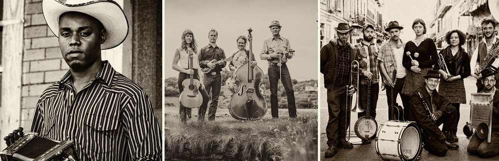 Cedric Watson, Foghorn Stringband &Tuba Skinny will be at Oldtone this year!