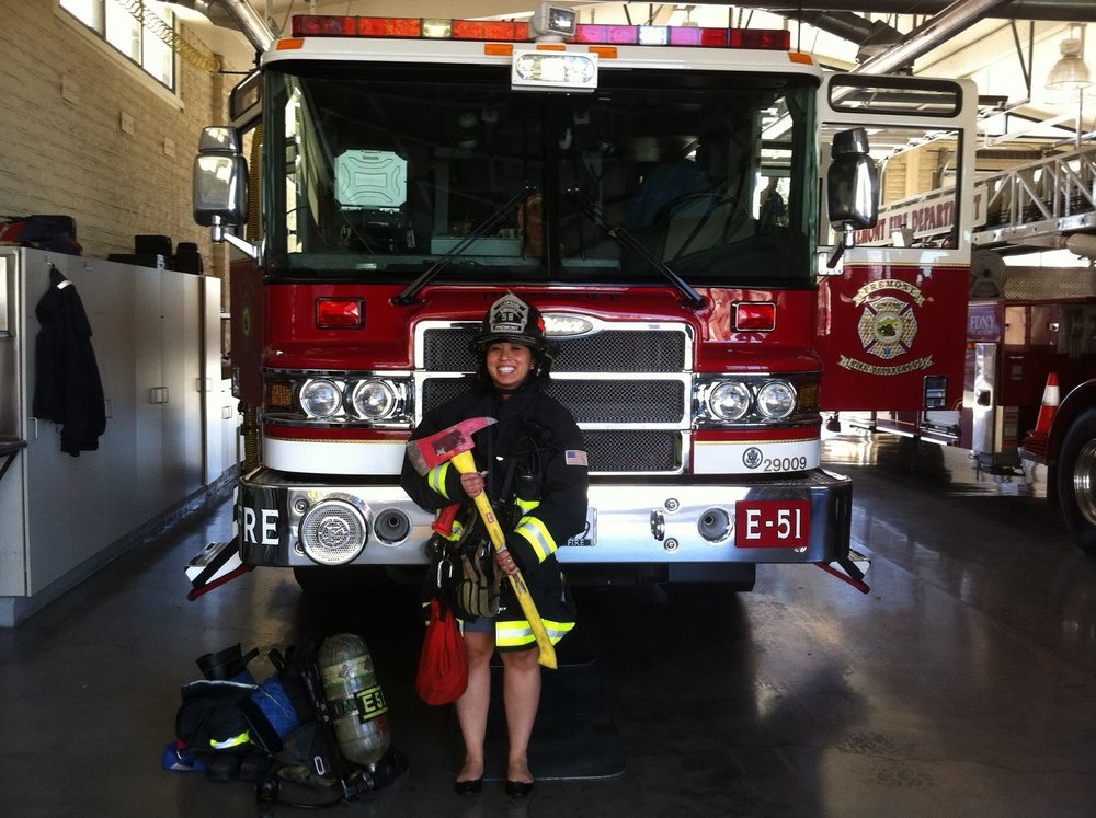"Ellen Kamei participated in ""Fire Ops 101."""