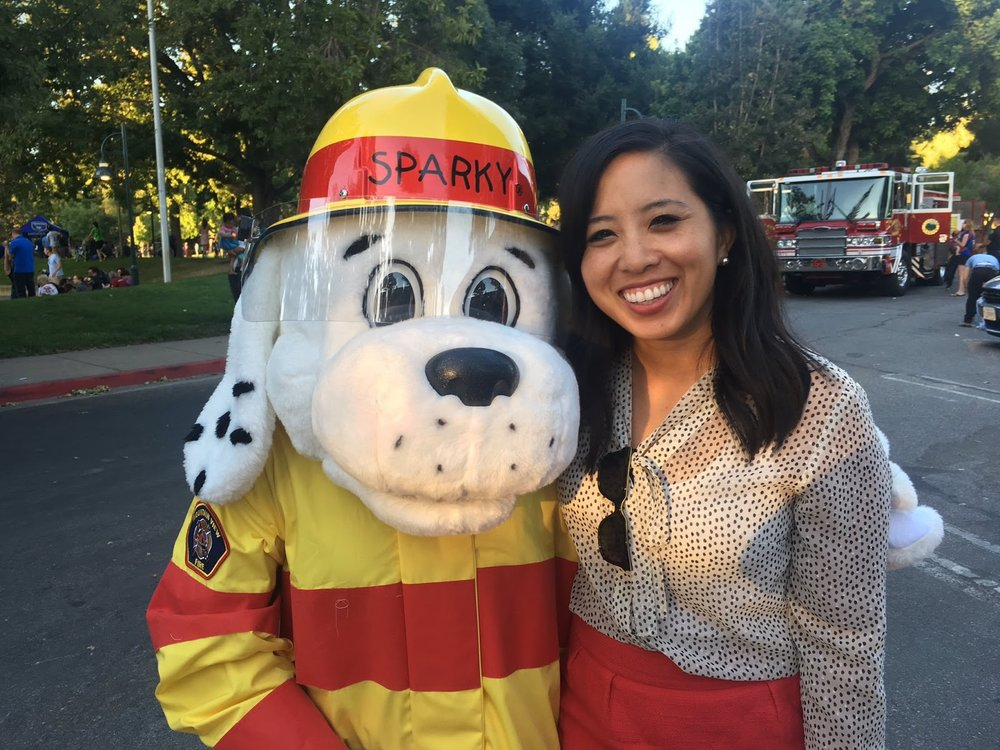 Ellen Kamei at the annual City of Mountain View pancake breakfast.