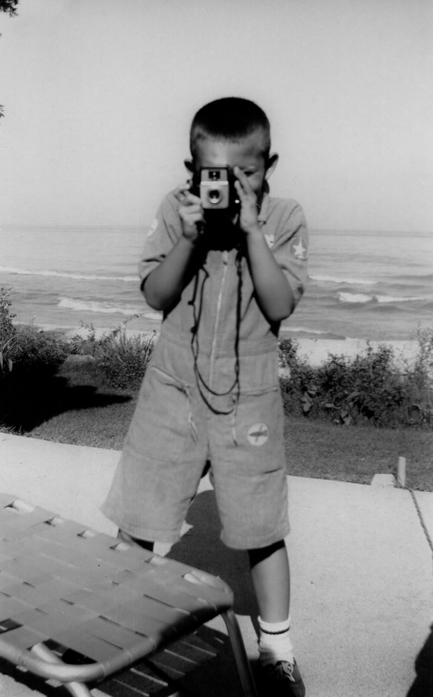 8 years old at our cottage in Wisconsin on Lake Michigan