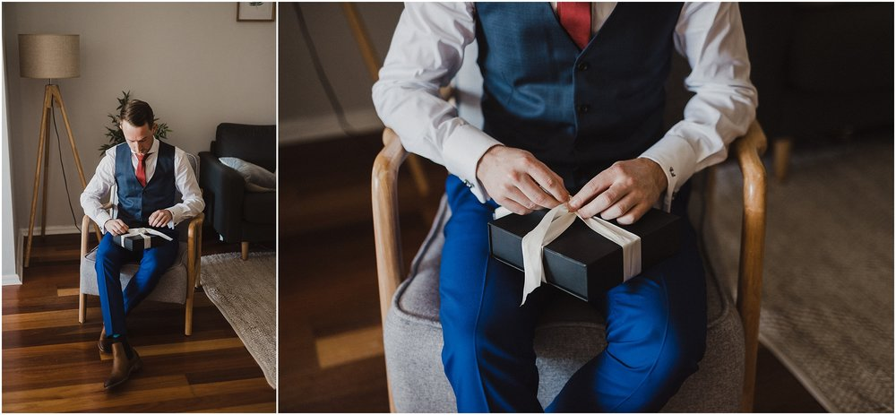 Sydney Wedding - Groom gift
